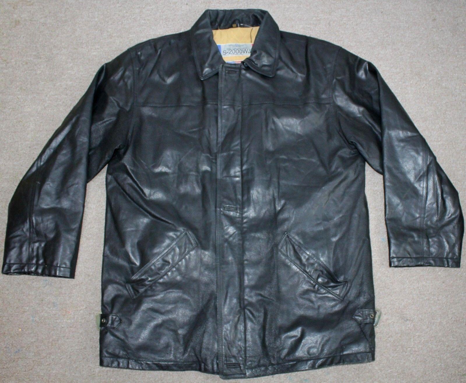 SAKI COLLECTION 2000 Sweden Men's Leather Bikers Jacket   Größe 50 Large