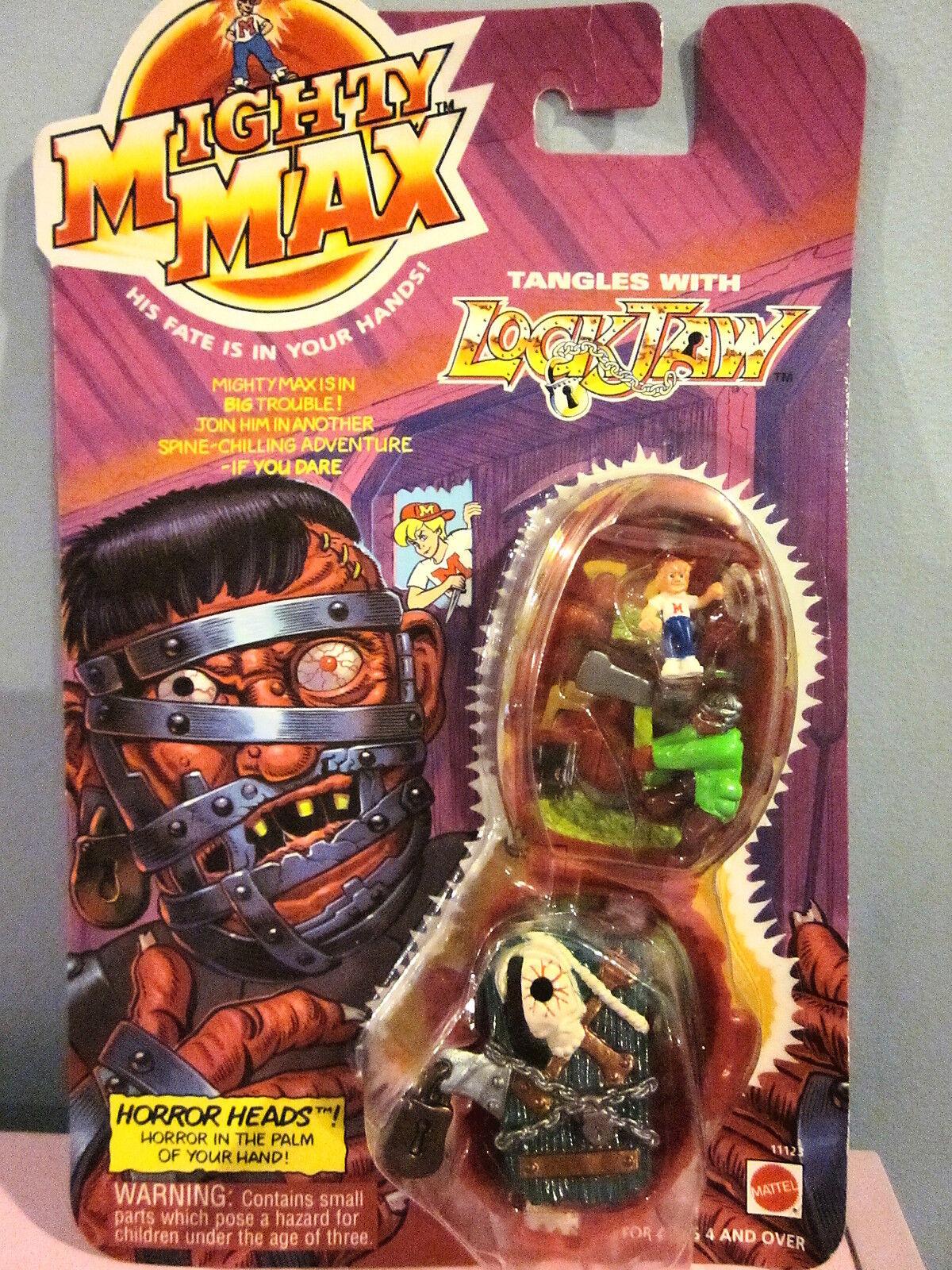 1993 Mattel Mächtig Max Knoten mit Schloss Kiefer Moc