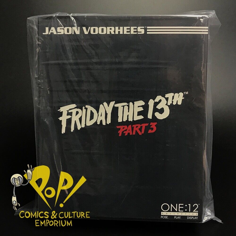 """One 12 Collective JASON VOORHEES 8"""" Action Figure MEZCO Friday the 13th Part 3"""