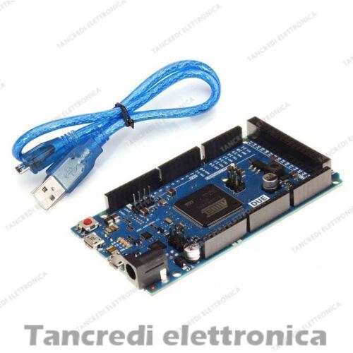Due Scheda Sviluppo Board USB-Atmel Arduino Compatibile sam3x8e 32-bit Cortex-m3