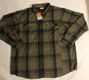 Columbia-Silver-Ridge-Lite-Plaid-Long-Sleeve-Shirt-Vented-Shirt-NEW-Mens-3XL-70