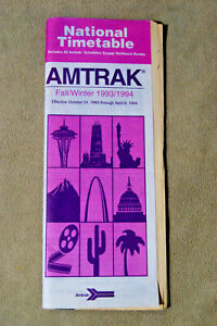 Amtrak-National-Timetable-Fall-Winter-1993-1994