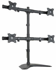 VIVO Quad Monitor Heavy Duty Stand FreeStanding Desk Mount | 4 Screens up to 27""