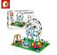 Sembo-Blocksteine-Riesenrad-Freizeitpark-Figur-Spielzeug-Modell-Geschenk-447PCS Indexbild 3