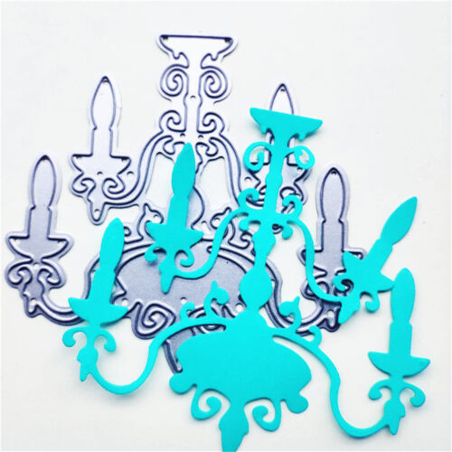 Candle Chandelier Metal Cutting Dies For Scrapbooking Card Craft Decor KI