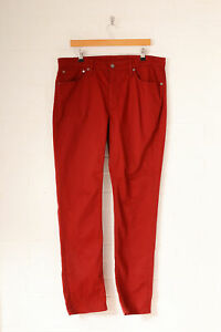 Vintage-Levi-039-s-511-Skinny-Fit-Jeans-weinrot-w38-l32