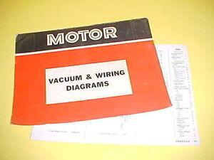 1965 1966 1967 1968 1969 Chevrolet Chevelle Ss El Camino Vacuum Wiring Diagrams Ebay