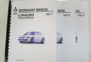 mitsubishi lancer evo vii workshop manual reprinted 1095 pages comb rh ebay com mitsubishi evolution service manual mitsubishi evo 8 workshop manual