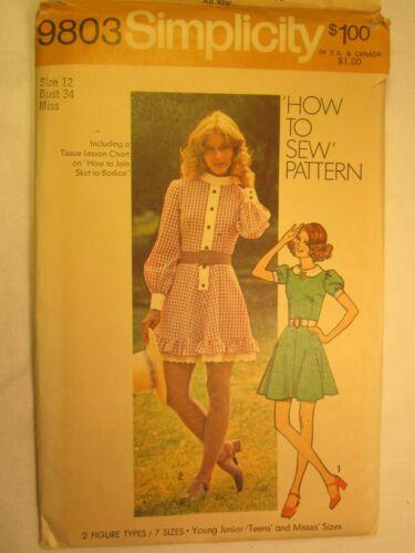 CHOICE 1971 Simplicity PATTERN Miss Size 10,12,14 WEDDING DRESS Scooter Skirt...