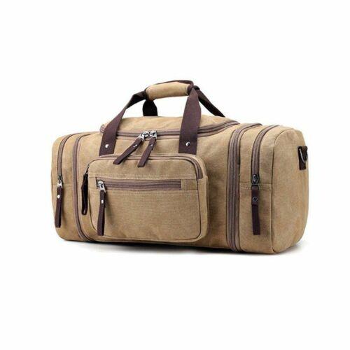 Men Travel Sports Bag Large Luggage Travel Canvas Duffel Travel Tote Gym HandBag