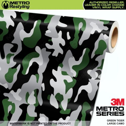 LARGE GREEN TIGER Camouflage Vinyl Car Wrap Camo Film Sheet Roll Adhesive