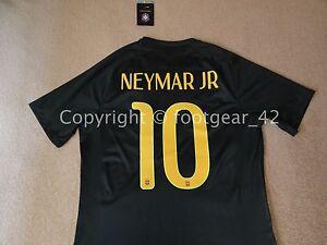 online store 03190 1280b Details about Nike Brazil Authentic Neymar Jr Soccer Match Jersey Paris St  Germain PSG Shirt