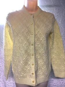 It's Pure Gould by Sidney Gould Women's Vintage Size S Solid Yellow  Sweater