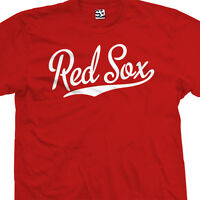 Red Sox Script Tail T-shirt - High School Sports Baseball - All Sizes & Colors