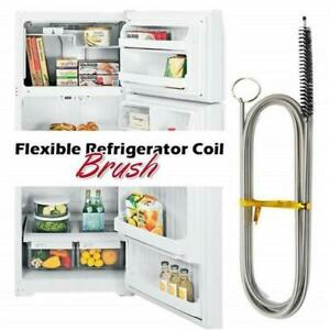 Long Flexible Refrigerator Scrub Brush Cleaning Tool Kitchen Drain Pipe 90//155cm
