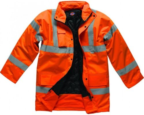 Dickies Hi Vis Motorway Sicurezza Giacca Cappotto sa22045