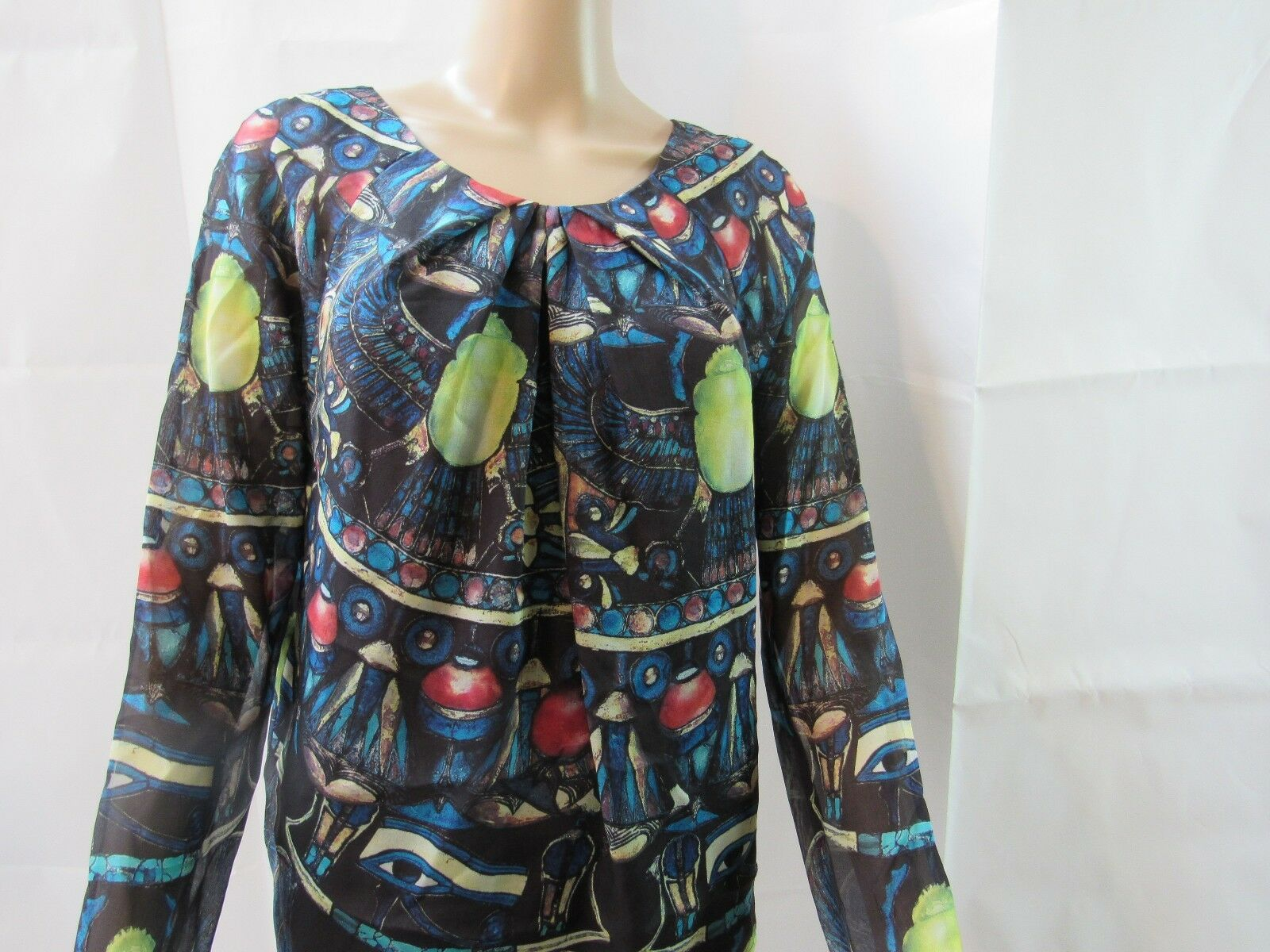 New with Tags London Silk Blouse Größe 8 Retail