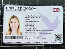 Personalised Novelty plastic ID fake theatrical prop card with HOLOGRAM