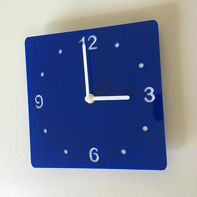 Cerca Voli Quadrato Blu & Bianco-orologio (white Backed), Bianco Mani & Movimento Silenzioso Sweep-