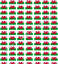 """GLITTER, GORGEOUS /""""ST DAVIDS DAY//WELSH FLAG/""""  PRINTED FABRIC SHEET...HAIR BOWS"""