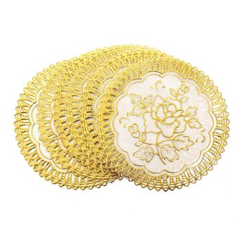 6 Fein Gold-Ton Blume Esstisch Tasse-Matten-Auflage G1N7J5
