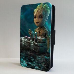 Détails sur Baby Groot Gardiens of the Galaxy Flip Phone Case Cover for iPhone Samsung- afficher le titre d'origine