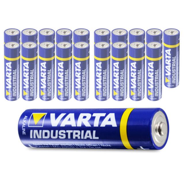 20 x Varta AAA Industrial Micro LR03 Batterie   1200mAh 1,5V Alkaline  20 Stück