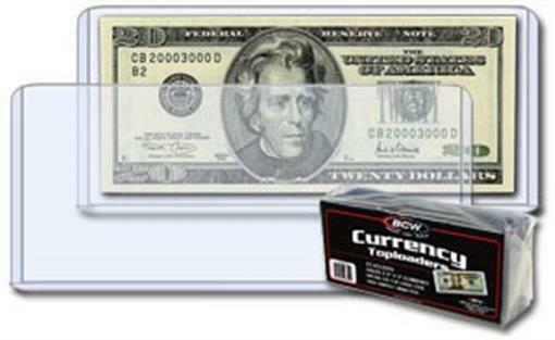 Modern Currency Sleeves PVC FREE 10 Mils Thick Back 100 High Quality Grade US