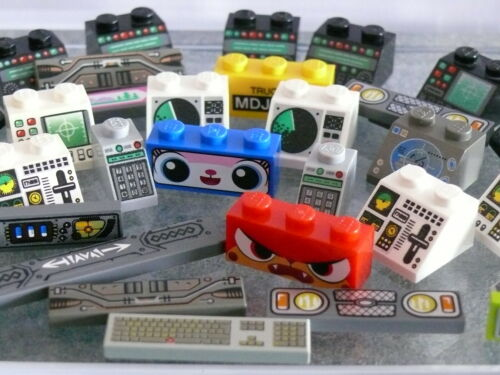 Consoles Screens Lego Pièce Rechange Train Space spare parts Logo Dashboards