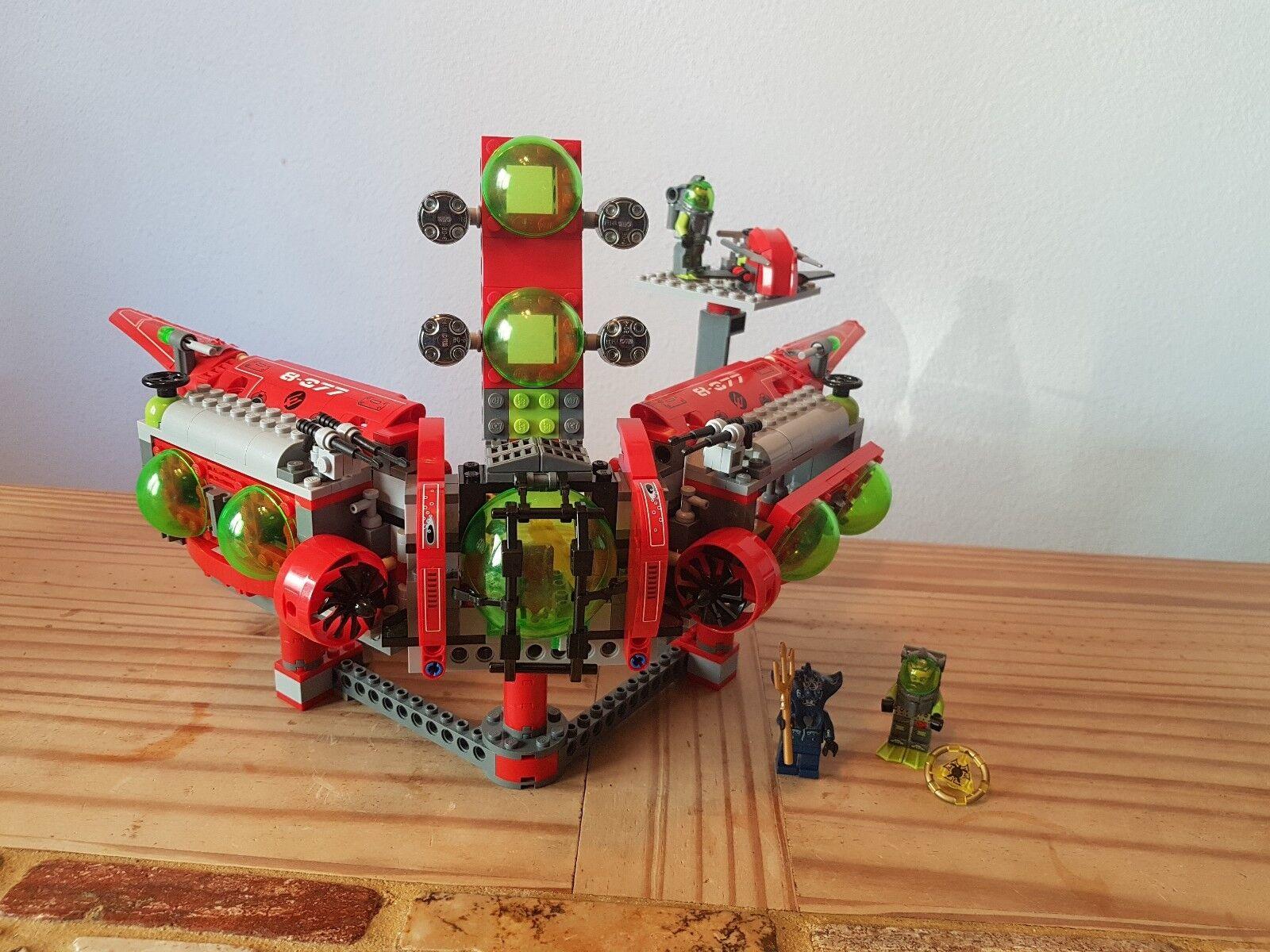 LEGO 8077 & 7976 Atlantis Atlantis Atlantis Unterwasser-Hauptquartier  Tiefseejet komplett TOP 8134a1