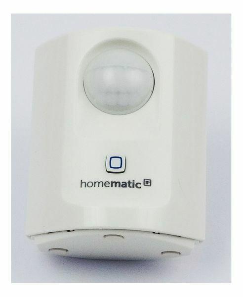 Homematic IP Bewegungsmelder mit Daemmerungssensor - innen, weiss, fuer Smart H