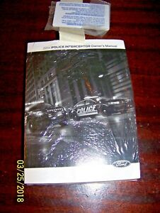 ford police interceptor sedan owners manual  ebay