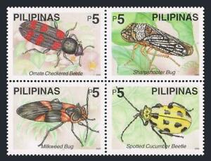 Philippines 2677ad-2678ad,2677e-2678e,MNH. Beetles,2000.Green Jule,Ladybirds,