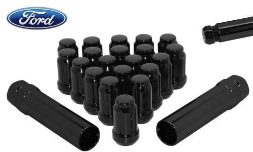"Ford20 Pc1//2/""x 20 ThreadBlack 6 Spline Lug NutsClose EndW// 2 Keys"