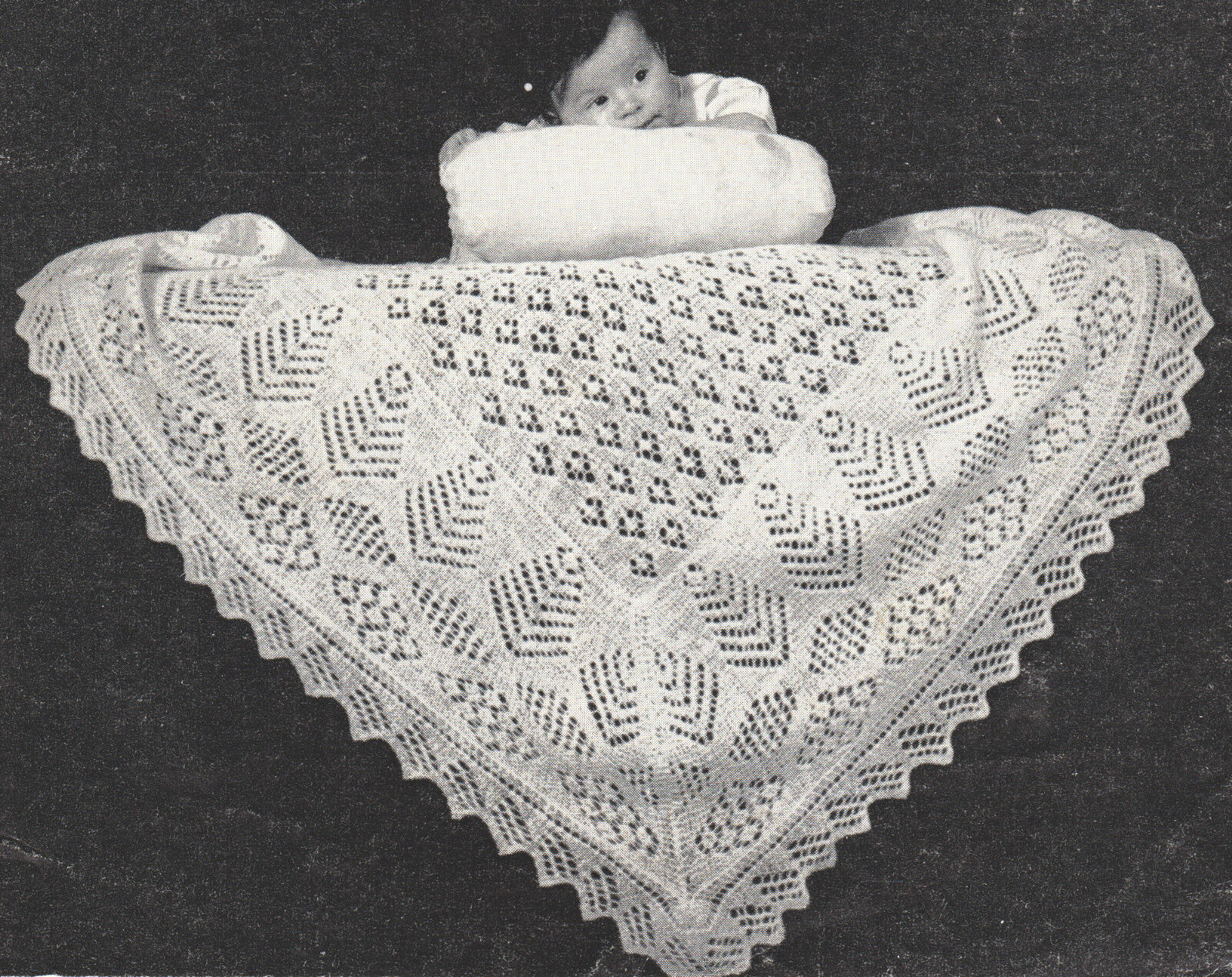 Two Vintage Shetland Lacy Baby Shawl Patterns ~ 2 ply~ ~ Knitting ...