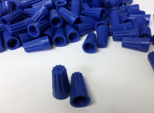 NEW Small Blue Screw On Nut Wire Connectors Barrel 22-14 AWG Twist-On 1000 pc