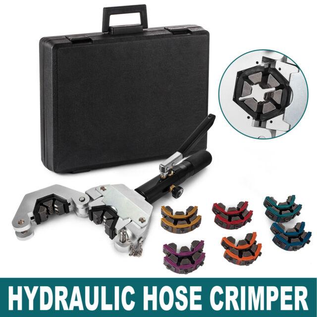 HYDRAULIC HOSE CRIMPER KIT HYDRA-KRIMP A//C PIPE FITTINGS CRIMPING TOOL SET