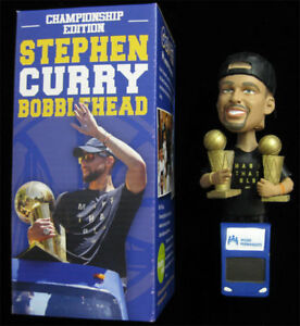 Image Is Loading Stephen Curry 2x Championship Trophy Bobblehead NIB RARE