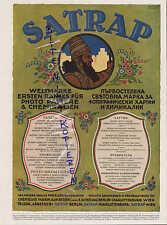 BERLIN-WIEN, Werbung 1916, SATRAP Papier Chemische Fabrik vorm E. Schering Brom