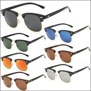 fe507afd525a8 Image is loading Half-Frame-Semi-Rimless-Polarized-Sunglasses-Mens-Womens-