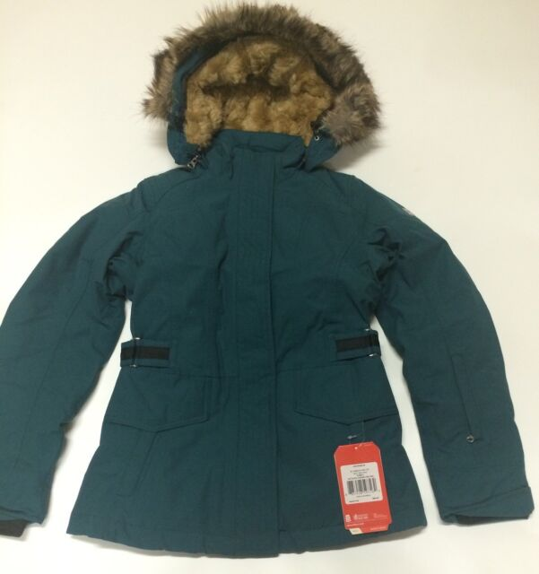 0126e6171 The North Face Tremaya Crop Jacket Deep Teal Blue Women's XS Down Jacket