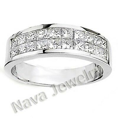 1.52 Ct Princess Diamond Wedding Band Ring VS1-F
