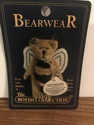 Boyds Bear Bearwear Bumble Bee Bear Wings Jewerly Pin Retired Store Stock