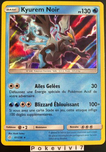 Carte Pokemon KYUREM NOIR 61//236 Holo Soleil et Lune 12 SL12 FR NEUF