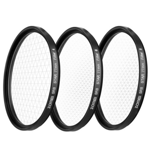 ZOMEI 77mm Star-Effect Starburst 4+6+8 Points Lens Filter for Cameras