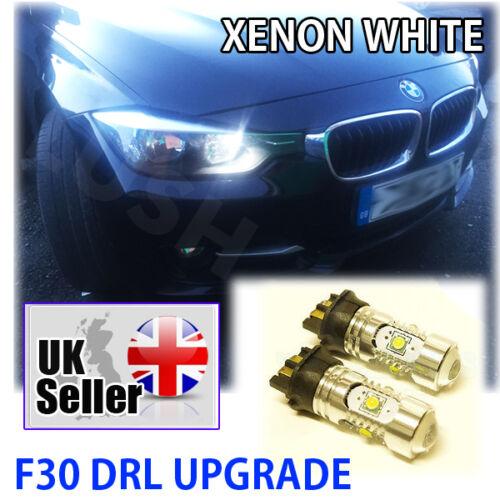 *BMW 3 SERIES F30 DRL UPGRADE XENON WHITE BULBS PW24W 30W LED Daytime Light