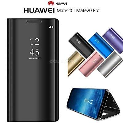 Nuovi Prodotti 0bcfe 48b6d Cover for Huawei Mate 20/pro Flip Original Mirror Case Ultra Slim Clear  View | eBay