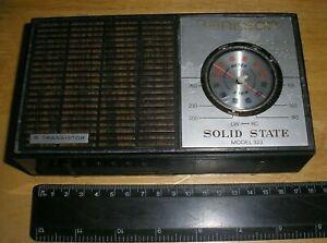 Vintage BENKSON Transistor Radio SOLID STATE Model 323 in Leatherette case