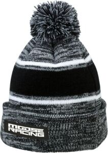 Moose Racing Drift Knit Beanie Hat Gray/Black
