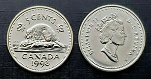 Canada-1998W-Proof-Like-Gem-Five-Cent-Nickel